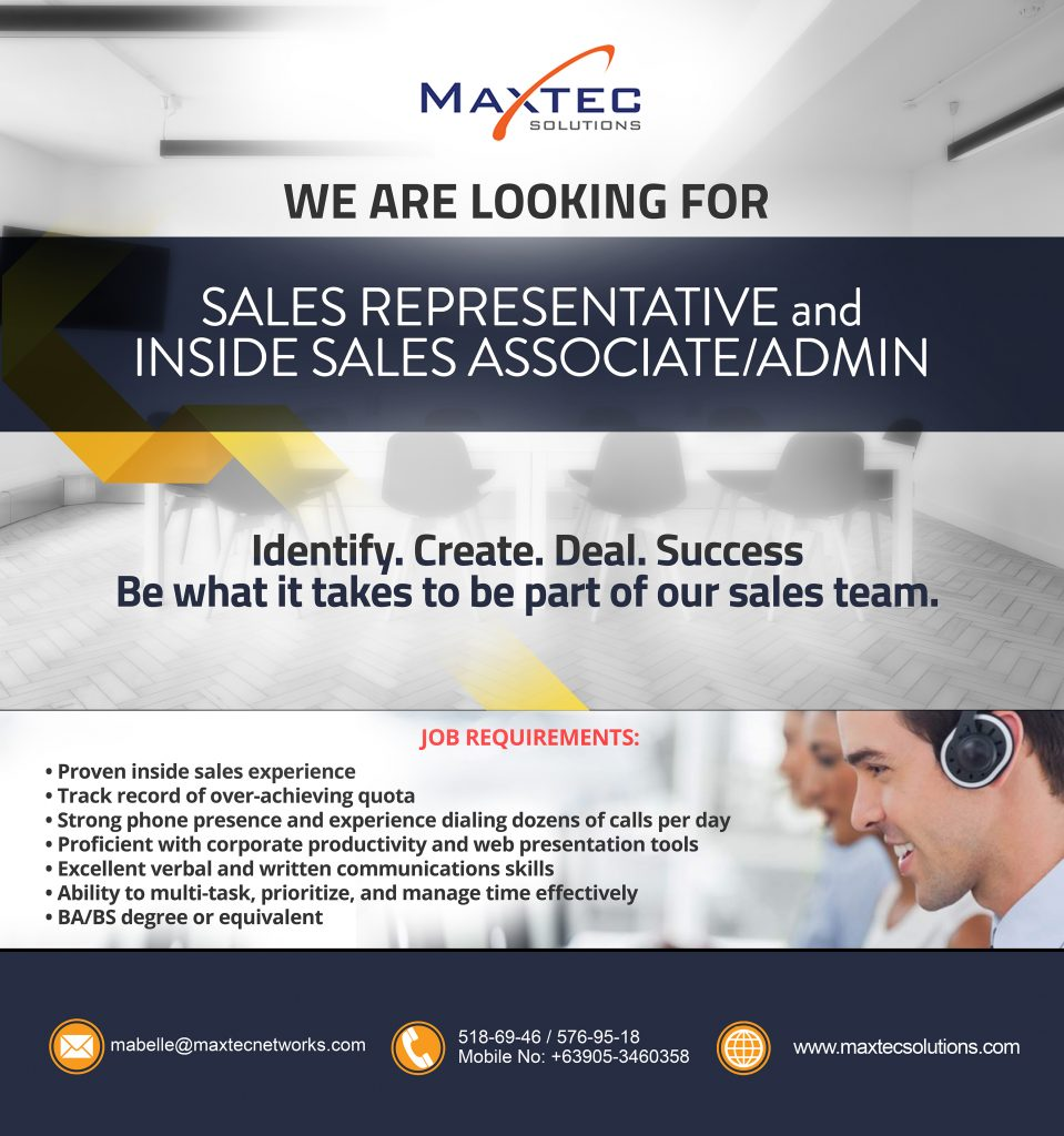 Careers Maxtec Solutions